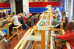 (RAIL REED & weaving) Tags: railreed looms weaving weavers summercourses weavehackers
