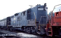 WM 5968 on 9-5-77 (C.W. Lahickey) Tags: wm emd gp9 connellsville