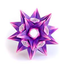 Happy birthday, Lena! (_Ekaterina) Tags: origami paper paperfolding unitorigami modularorigami kusudama harmony violet pink jongienara