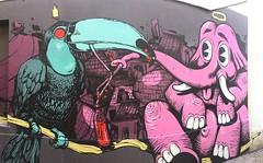 #monsieurhobz #hobz et #retro #retrograffitism #elephant #toucan #137  #streetart #graffiti #graff #spray #bombing #wall (pourphilippemartin) Tags: monsieurhobz hobz retro retrograffitism elephant toucan 137 streetart graffiti graff spray bombing wall
