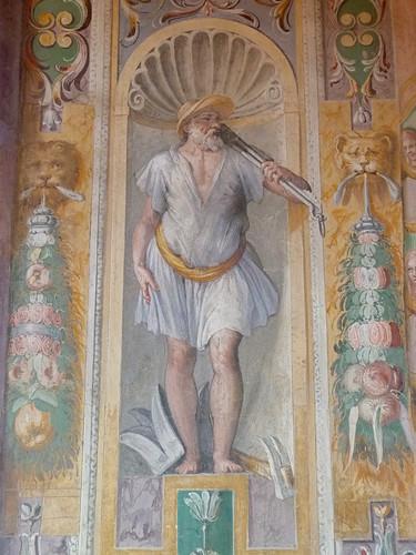 Tivoli - Villa d'Este, frescoes MUZIANO, reception room, Vulcan