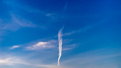 DSC02426- (danliecheng) Tags: 169 abstract airplane background blade blue clouds darkblue flag nature plane sky trails white