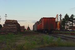 pulpwood loading (Rich Peters- foosqust) Tags: cn railroad train prentice pulpwood