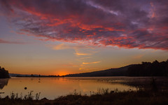 Sunrise at the lake 9/16/2016 (snooker2009) Tags: lake sunrise nature wildlife clouds reflection pennsylvania colorful