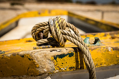 rope  an d knot II (Erzengel69) Tags: boat boot faro portugal riaformosa ruderboot