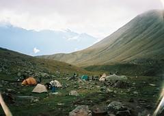 (Nikolay Kulivets) Tags: 35mm film olympusmjuii mjuii kodak georgia kazbek caucasus alpinism camp bivvy clouds