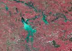 Flash Floods in New South Wales, Australia (DMCii) Tags: satellitedata satelliteimage disaster disasterdata multispectraldata gis remotesensing 22m geography cartography ukdmc2 uk2 australia newsouthwales flooding red vegetation nir nearinfrared water lakes cities towns environment maps earth earthfromspace agriculture rivers crops