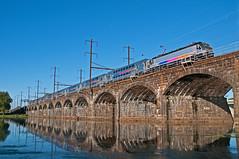 The PRR Span (Adrian Corus) Tags: prr bridge river delaware nec northeastcorridor trenton 7820 4653 alp46a alp46 alp rail train njtr njt newjerseytransit njtransit
