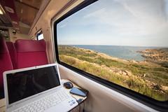 Treno 8956 (NkolaN) Tags: golfo aranci olbia mare sardegna treno treni estate meraviglia sardinia