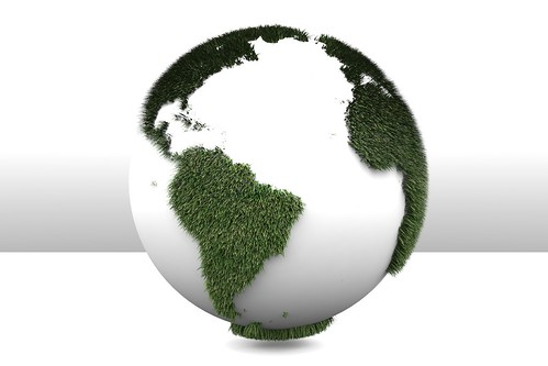 3D Green Planet Earth