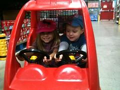 Karina and Dominic shopping