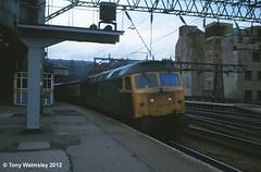 47555 Glasgow Central (TonyW1960) Tags: class47 glasgowcentral 47555 47126 d1717