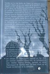 Histoire de la collégiale St Barnard (Jeanne Menjoulet) Tags: france histoire collégiale stbarnard romans isère