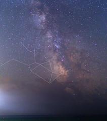 Sagittarius and Milky way over the Black sea (Dmitry Kolesnikov) Tags: clouds stars sagittarius galaxy astrophotography blacksea constellation milkyway облака черноеморе звезды галактика созвездие млечныйпуть стрелец астрофотография