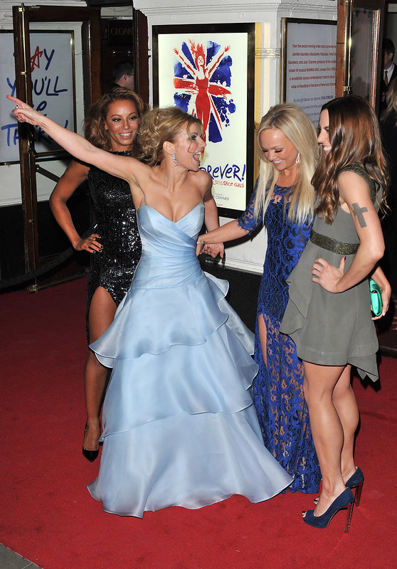 "Emma Bunton, Melanie Chisholm, Melanie Brown, Geri Halliwell Spice Girls at the ""Viva Forever"" VIP night held at the Piccadilly Theatre - WENN.com"