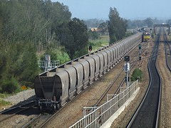 on the flyover (sth475) Tags: railroad bridge train track railway australia line nsw infrastructure hunter coal freight flyover sandgate endoftrain eot cabview mainnorth