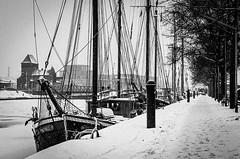 Lübeck - Untertrave im Winter