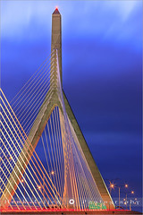 Zakim Bridge - Boston - USA (~ Floydian ~ ) Tags: longexposure bridge usa lines boston architecture canon wow lights wire unitedstates massachusetts charlesriver hill structure line architect bunker wires bluehour memorialbridge meijer bunkerhill zakim henk eveninglight zakimbridge leonardpzakim cablestayed floydian proframe proframephotography lennyzakim charlstown canoneos1dsmarkiii bigdigproject henkmeijer