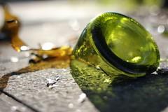 Broken Bottle (Lig Ynnek) Tags: glass bottle sevilla spain wine 28mm seville espana 18 shatter broke