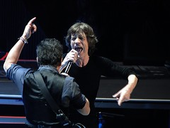 Mick Jagger and Bruce Springsteen