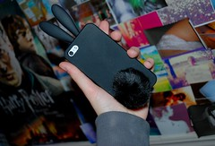 New Phone Case (Celestri4l) Tags: black cute bunny collage hand five quality harry potter case iphone iphone5 tumblr