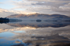Derwentwater December (wilkie,j ( says NO to badger cull :() Tags: winter mountains water clouds reflections landscape countryside nikon december lakes lakedistrict cumbria derwentwater nationalparks nationaltrust keswick skiddaw scenicwater sceniclandscape