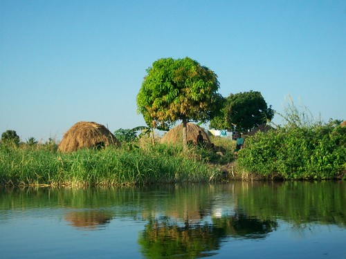 Fishing Camp Along Luapula River, Zambia. Photo by Saskia Husken, 2010.