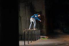 Sergi Nicolas - Rider of the year (EsteveSegura) Tags: street sport night noche calle amazing shoot board extreme skating rail nicolas skate deporte trick sergi segura esteve truco barandilla patinando extremo streetboard patinar strobist