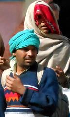 Pilgrims at a Rishikesh temple (bokage) Tags: woman india man pilgrim rishikesh uttarakhand