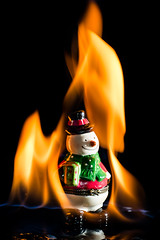 And I Feel Fine (jon_beard) Tags: xmas hot closeup fire snowman flame burn