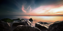 sandgate (richard carter...) Tags: longexposure beach canon kent rocks sandgate reflectedlight eos5dmk2