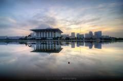Tuanku Mizan Zainal Abidin Mosque (Mohamad Zaidi Photography) Tags: morning reflection sunrise nikon southeastasia explore malaysia hdr masjid putrajayamosque tenang nyaman d7000 tokina1116 tuankumizanzainalabidin mohamadzaidiphotography malaysiatrullyasia