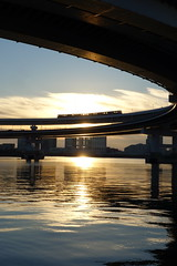 DSC01434 (No Donuts For You) Tags: new bridge japan sunrise rainbow fuji sony years jpeg hatsuhinode shibaura ooc rx100