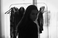 2:2013 (-ashley) Tags: light sun white black window nature hair ashley january clothes rack inside 365 sweatshirt hanger