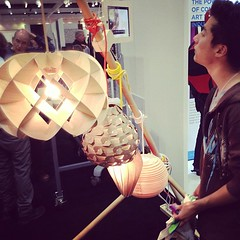 Wooden lamp shades you can customize at Art Center booth. (Yahoo! Homes) Tags: dod2012 dwellondesign2012