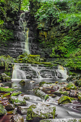 Mill Gill Waterfall...IMG_5741.jpg (Katybun of Beverley) Tags: uk longexposure landscape waterfall rocks yorkshiredales millgill