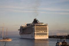 MSC Divina - Funchal 2013 (konceptsketcher) Tags: cruise sunset portugal island photography ship porto cruzeiro divina madeira ilha msc funchal pontinha 2013 konceptsketcher