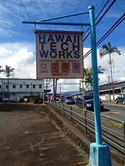 Techworks, custom sign -made by laser (Hawaii TechWorks) Tags: wood sign hawaii handmade hi bigisland hilo custom nonprofit lasercut socialenterprise easthawaii appleiphone4s ehcdc hawaiitechworks