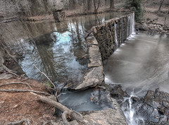 Above Old Mill Dam (BrianMoranHDR) Tags: park winter water burlington outdoors waterfall dam northcarolina alamance alamancecounty cedarockpark hdrsoft canon1740mml topazlabs niksoftware oldmilldam canon5dmarkii viveza2 adobephotoshopcs5extended denoise5 silverefexpro2 colorefexpro4 photomatixpro424 elmogazebo