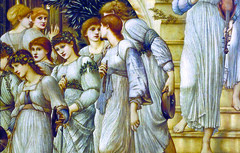Burne-Jones, The Golden Stairs, detail with women below