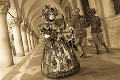 Venetian masks at the Venice Carnival (anthony pappone photography) Tags: pictures carnival venice party people blackandwhite bw italy white black blancoynegro festival digital canon lens photography photo blackwhite italia foto mask image picture culture unesco fotografia carnevale venezia maschera reportage photograher  phototravel      danze          mark5dii
