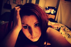 62/365 (the girl and the camera) Tags: selfportrait face self bed bedroom redhead inbed selfie project365