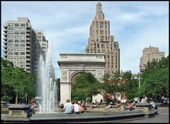 Washington Square Park, NY NY (brianac37) Tags: park newyorkcity people fountain manhattan washingtonsquare greenwichvillage washingtonarch peopleandpaths