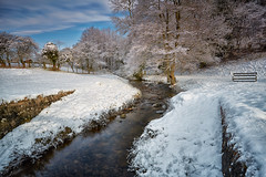 A Winter's Scene, Hutton Le Hole (mark_mullen) Tags: uk winter snow cold water landscape countryside nationalpark scenery rocks stream seasons beck hoarfrost seasonal scenic bluesky blueskies northyorkmoors northyorkshire pickering huttonlehole canon1740f4 northyorkshiremoors canon5dmk3 markmullenphotography