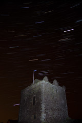 Portencross Castle Star Trails (Bora Horza) Tags: sky west castle abandoned architecture night river stars spiral star coast riverclyde clyde movement lowlight fort citadel spin ruin trails medieval stack historic trail forgotten shore astrophotography restored nightsky stacking fortification stronghold fortress castello château stacked burg castillos maintained renovated staracademy startrail kilbride portencross westkilbride stackedimage starmovement טירה portencrosscastle ayrshirecoast سلطنت