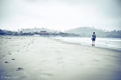 THE BEACH (katja pia) Tags: boy man art beach southamerica strand ecuador thought loneliness playa stranger soul mann sole einsamkeit lonesome sdamerika mompiche