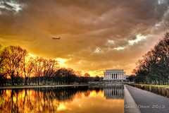 Sunset in Washington DC (Gabe Oram Photography) Tags: sunset sun pool beautiful landscape reflecting washingtondc dc washington memorial day vivid lincoln hdr inauguration pittsburghsteelers wowiekazowie