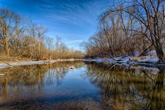 Winter Morning on the Des Plaines River (jeff_a_goldberg) Tags: winter nature illinois unitedstates libertyville hdr desplainesriver independencegrove lcfpd desplainesrivergreenway lakecountyforestpreservesdepartmentlcfpd