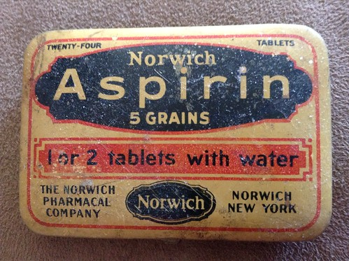 antique aspirin tin
