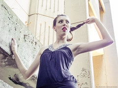 Fashion set - Photo DSC_3514 (Nenad Bogoevski Photos) Tags: fashion photo model maja stojchevska girl woman young stairs black red lips brown hair light shadow posing